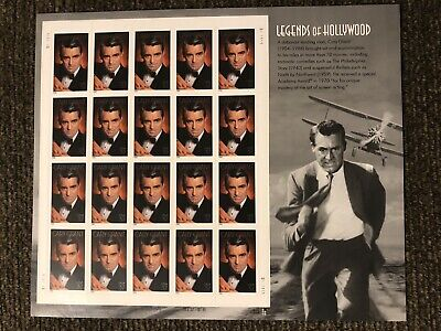 """""""Legends of Hollywood"""" Cary Grant sheet oftwenty 37 cent stamps, Scott #3692"""
