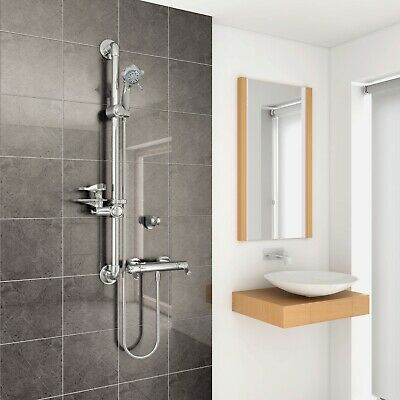 AKW Arka Care Thermostatic Bar Mixer Shower with Shower Kit