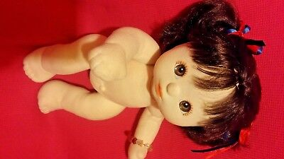 1985 Mattel My Child Doll Brunette 💜 Brown/Hazel Eyes / Sold Nude