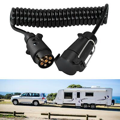 Trailer Light Board Extension Cable Lead 7 Pin Plug Socket Caravn Towing Wire UK