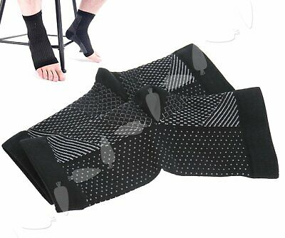 Pair of Foot Relieve Care Ankle Anti Fatigue Sleeve Circulation Sock Support S/M