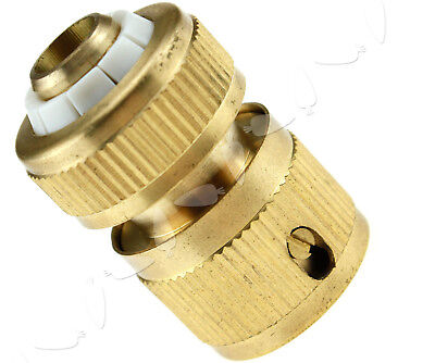 """1/2"""" Quick Connect Solid Brass Female Hose Connector With Auto Stop New TN"""
