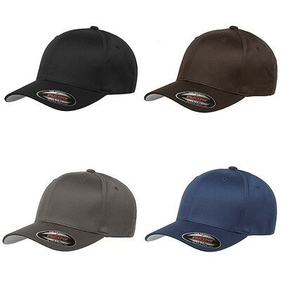80dc5fb718dc56 Yupoong Flexfit 6277 Wooly Combed Twill Cap Hat Blank Plain Curved Baseball  Cap