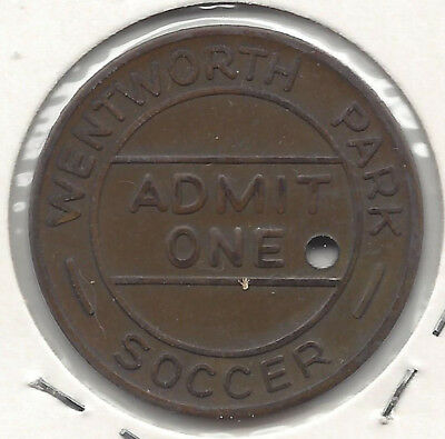Apia Scoccer Club Wentworth Park Admit One Token 29.5mm Bz Token Holed AMOR Arch
