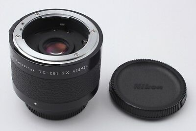 **Mint** Nikon teleconverter TC-201 2X w/Front Cap & Rear Cap from Japan #008
