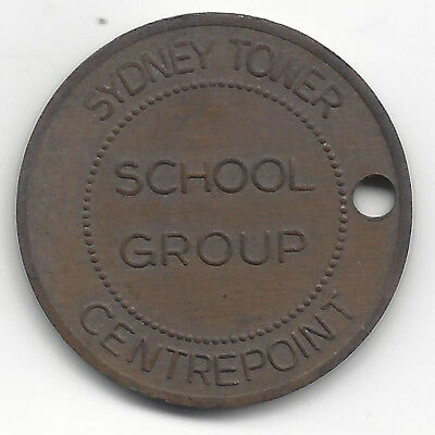 Sydney Tower Centrepoint School Group Entry Token Brass 30mm Holed ex AMOR Archi