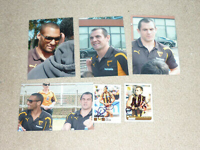 Hawthorn Luke Hodge & Josh Gibson Signed Cards & Photos