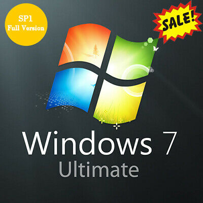 Windows 7 Ultimate Key 32/64 Bit Activation Key Microsoft - Win 7 Ultimate