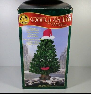 Douglas Fir The Talking Tree 16'' 3 Songs Motion Activated Gemmy 1997 Tested