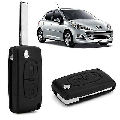2 Button Replacement Flip Key Fob Case Shell For PEUGEOT 207 307 308 & 407