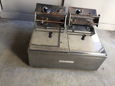 Woodson electric bench top 2 well fryer