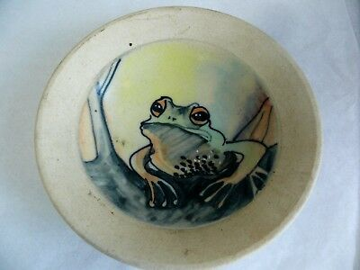 West Australian Pottery Hand Painted Frog Plate By Wendy Binks