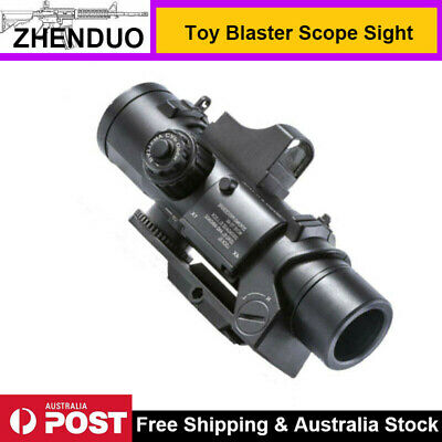 4X Sight Magnifier Red Dot Scope for Gel Blaster Toy Gun Accessory with Battery