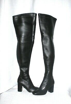 39be1abc8c $325 SIZE 5 Michael Kors Sabrina Over The Knee Black Leather Womens ...