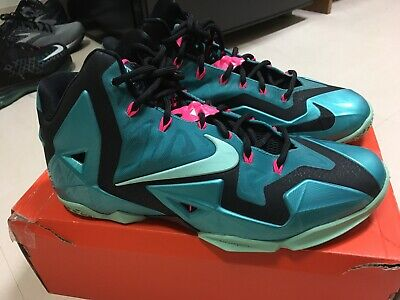 online store 218a7 eed17 NIKE LEBRON XI 11 SOUTH BEACH MIAMI TURQUOISE Size 10 - FREE SHIPPING
