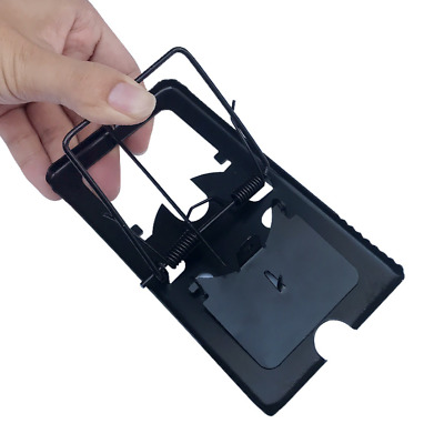 Black Reusable Metal Rat Mouse Mice Snap Trap Clip Trapper Control w jagged edge