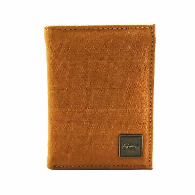 4f71b51dfac3 CANVAS & AWL Trifold Canvas Wallet with Leather Trim 8 Card Slot ...