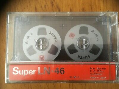 A.M.L. Super LN-46 Reel to Reel Style FACTORY SEALED AUDIO CASSETTE JAPAN
