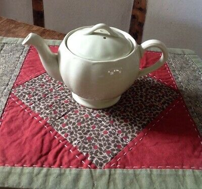 Vintage Grindley Petal Ware Teapot light Green ceramic Small Excellent Cond
