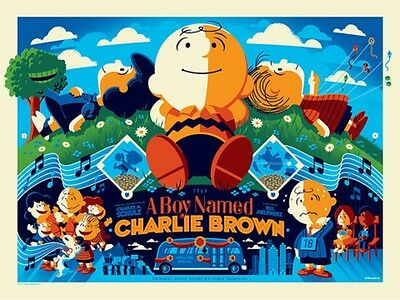 Tom Whalen print A Boy Named Charlie Brown - Variant Edition Schulz poster