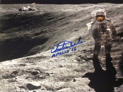 Astronaut Charlie Duke Signed Photo Apollo 16 COA Astronaut Central Novaspace
