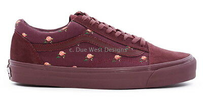 4445800082 VANS VAULT UNDERCOVER OLD SKOOL LX SMALL FLOWER BORDEAUX 5 red roccoco