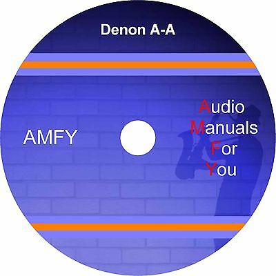DENON service manuals, owners manuals and schematics on 4 dvd, all in pdf format