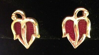 Vintage Retro Peppers Earrings Rare Collectible Screw Back Gardener Gift 3h