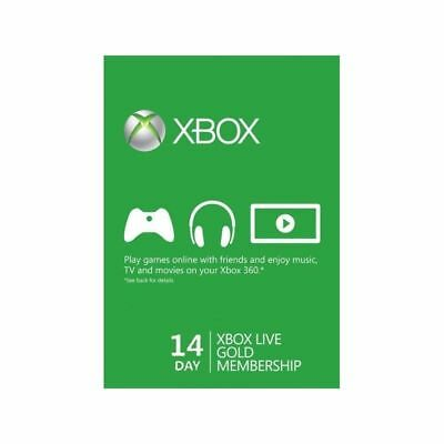 Xbox Live 14 Days 2 Weeks Trial Gold Code 14 Day