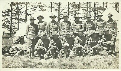 US Army Soldiers in Uniform WW1 Real Photo Postcard RPPC