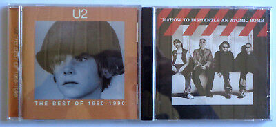 """U2 - Best Of 1980-1990 / How To Dismantle An Atomic Bomb """" Lot Of  2 CD's Rock"""