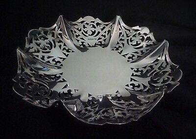 George VI Very Ornate English Sterling Silver Bowl by E Viner 1937