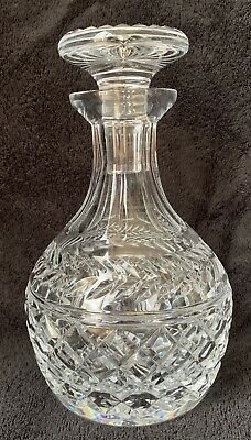 "STUART CRYSTAL POSSIBLY ARUNDEL CUT DECANTER APPROX 8 1/2"" (22cms) Etched"