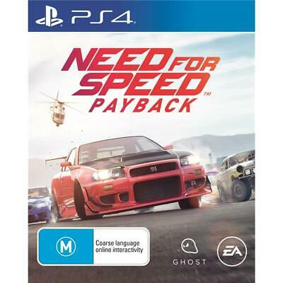 EA NFS Need For Speed Payback PlayStation 4 PS4 GAME BRAND NEW FREE POSTAGE