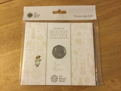 2017 Beatrix Potter 50p - Tom Kitten - in Royal Mint Pack