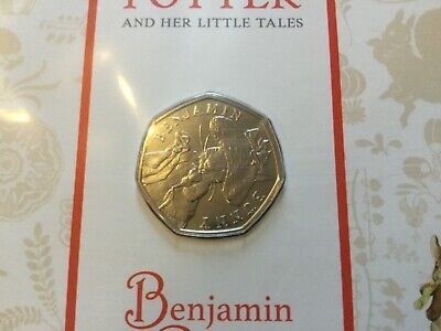 2017 Beatrix Potter 50p - Benjamin Bunny - in Royal Mint Pack - coin not upright