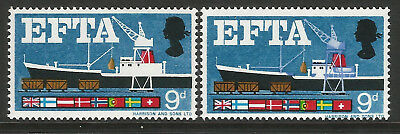 GB Stamp Error 1967 EFTA 9d ordinary New Blue Omitted unmounted mint SG715e