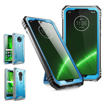 Motorola Moto G7 / G6 Play / G7 Plus / G6  Case,Poetic Shockproof Cover Blue