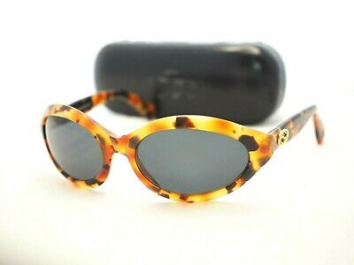 GUCCI GG 2402 sunglasses brown gold GG oval  ladies vintage glasses