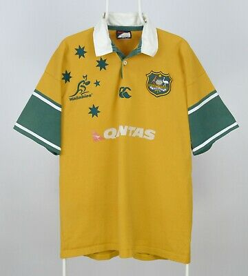 f040154c2b3 Mens Canterbury Wallabies Australia Union Vintage Rugby Jersey Shirt Size XL
