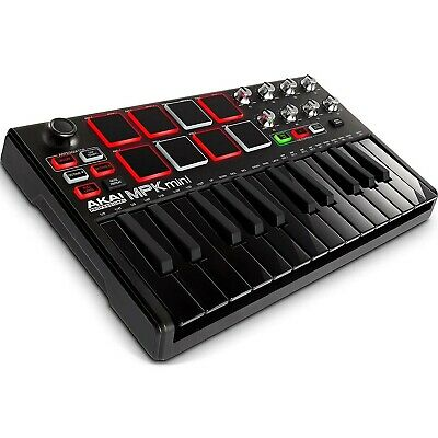 Akai Professional MPK mini MKII BLACK - Compact Keyboard and Pad Controller
