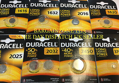 Genuine Duracell Lithium Batteries Cr2032 2016 2025 1616 1620 1632 2450 Lr44