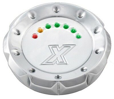 Xtreme Machine Chrome V-Cut LED Fuel Gauge 96-UP B/T Vented 395179, 0210-2028-CH
