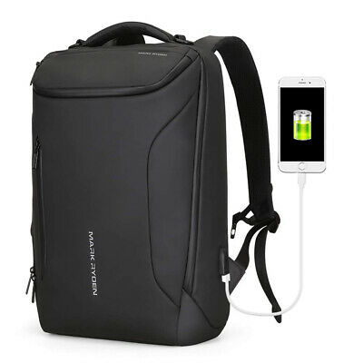 Anti-Theft Backpack Travel Water-Resistant Laptop School Bag USB Charging Port