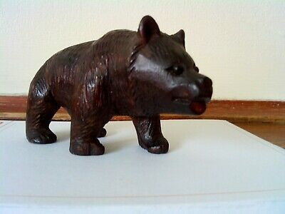 Antique Hand Carved Black Forest Bear In Good original  Condition mad about 1900