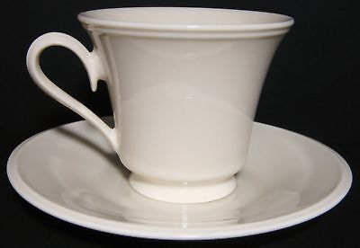 "6 Lenox China Special Cream 3 1/2"" Footed Cup 8 Ounce & Saucer Sets"