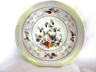 BAVARIA ~ Beautiful Hand Painted Multi-Colored Flowered and Luster Rimmed Bowl