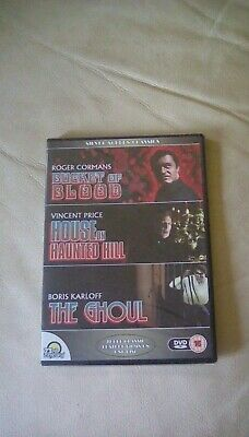 Bucket of Blood / House on Haunted Hill / The Ghoul DVD Region Free / NEW