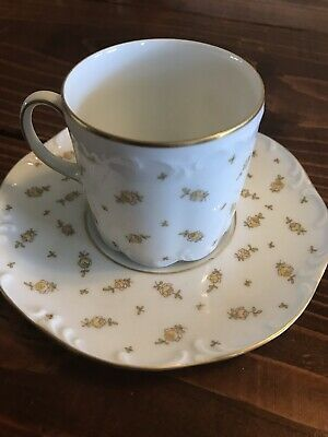 Rosenthal china classic rose teacup yellow with gold trim