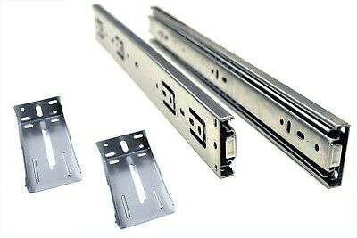 """16"""" Full Extension, Ball Bearing Drawer Slide with Rear Brackets 10 pair"""